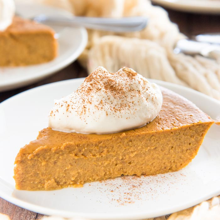 Crustless Pumpkin Pie Pudding